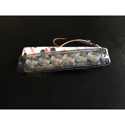 FEU FLASH A ECLATS EXTRA PLAT BLANC 12-24V 6 LEDS