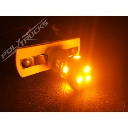 AMPOULES 8 LEDS - 24V - ORANGE