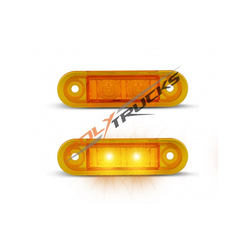 FEU DE POSITION AVANT CRISTAL-2 LED-12/24V-79x22x3MM