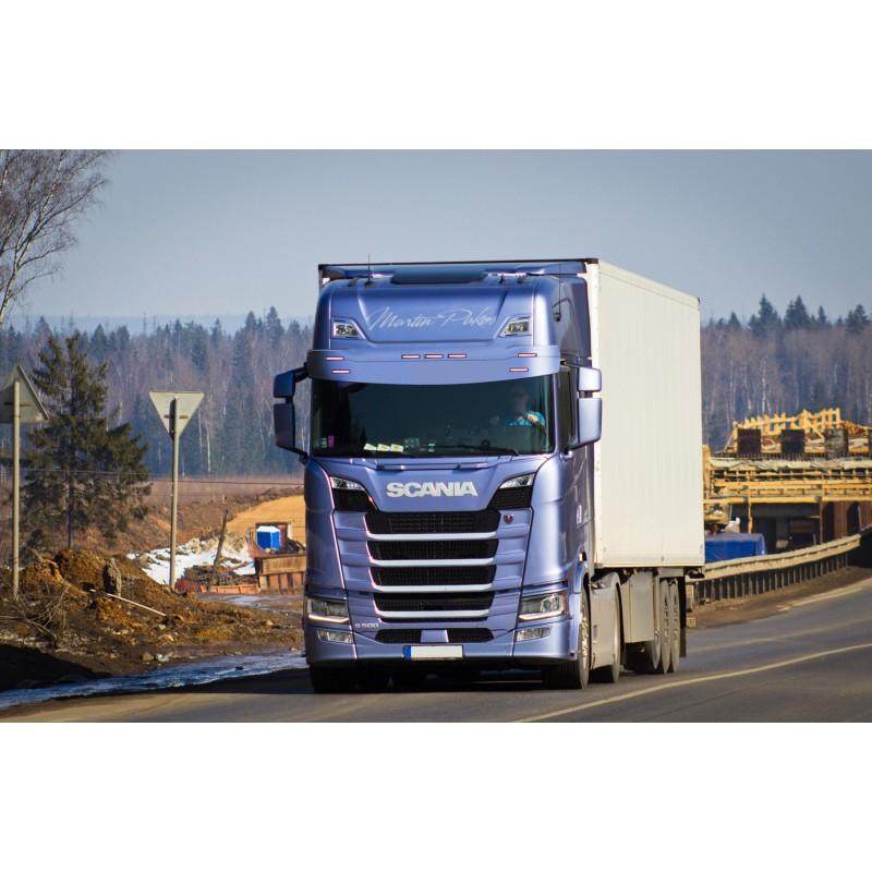 Visière Scania NTG - Arrondie -  7 Emplacements de veilleuses