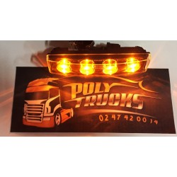 Veilleuse Boreman 4 Leds Orange