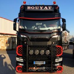 6 Emplacements de veilleuses - Visière Scania NTG Arrondie - 400MM
