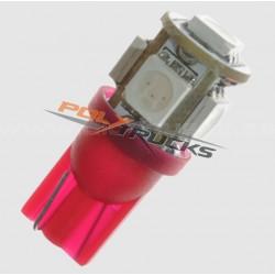 AMPOULE LED - W5W - 5 LED -...