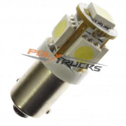 AMPOULE - 5 LEDS - BLANC - BA9s