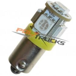 AMPOULE - 5 LED - ORANGE - BA9s