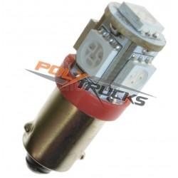 AMPOULE - 5 LED - ROUGE - BA9s