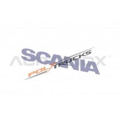 """LOGO DE CALANDRE INOX - ECRITURE """" SCANIA """" POUR SCANIA NEW R"""