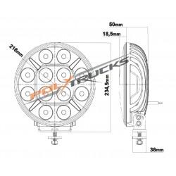 PHARE LONGUE PORTEE - FULL LEDS - POLLUX 9+ BLANC