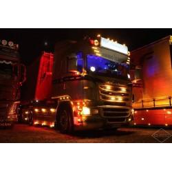 Visière Polyester Scania 400mm arrondie