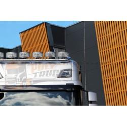RAMPE DE TOIT INOX AVEC LEDS - TOP6 - SCANIA TOPLINE