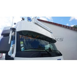 Scania sunvisor 350mm locations for 2 position lights