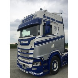 Scania sunvisor 350mm locations for 5 position lights