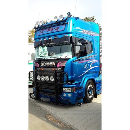 Visière Scania R - 350mm- 7 Emplacements de veilleuses + 4 Longues portées Streamline
