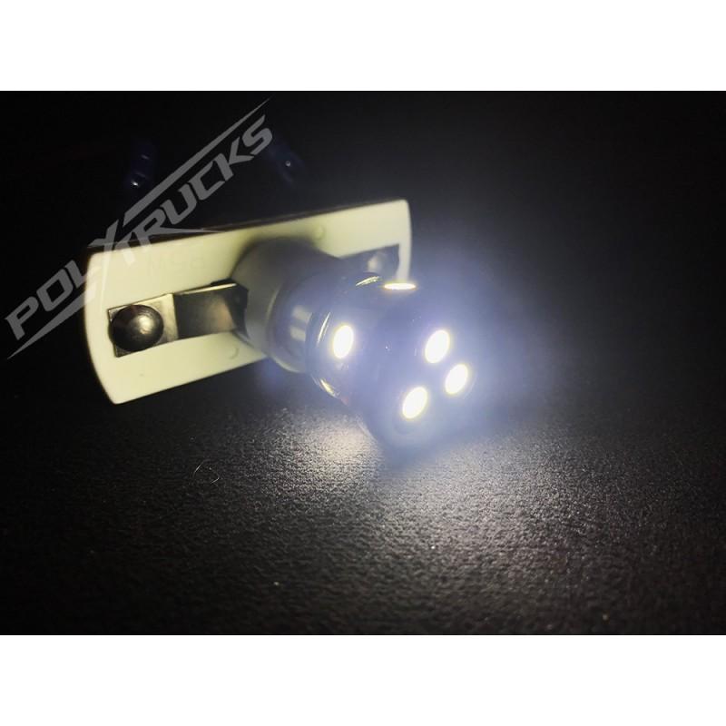 AMPOULES 8 LEDS - 24V - BLANC - PolyTrucks