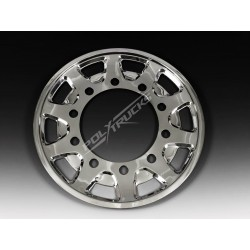 Enjoliveur avant TUNA WHEEL inox 22.5 déport 120mm