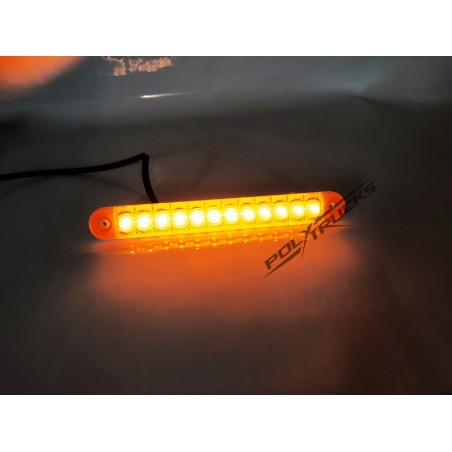 FEU DE GABARIT - BANDE - 12 LEDS - ORANGE
