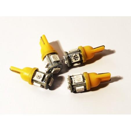 AMPOULE LED - W5W - 5 LEDS - ORANGE  - 24V - 10W