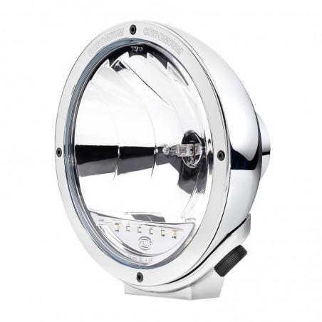 PHARE LONGUE PORTEE HELLA LUMINATOR COMPACT CHROMIUM VERRE LISSE BLANC - VEILLEUSES LED