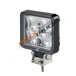 PHARE DE TRAVAIL 4 LEDS DE 3W CARRE - FLOOD - 12/24V
