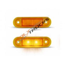 FEU DE POSITION AVANT CRISTAL-2 LED-12/24V-79x22x3MM