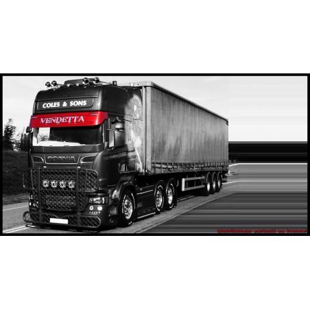 Visière Scania - Type  143 - 2 Emplacements de veilleuses