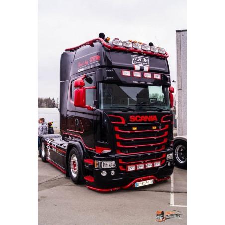 Visière Scania R - 290/350mm - 7 Emplacements de veilleuses + 4 Longues Portées
