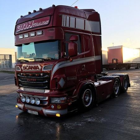 Visière Scania R - 350mm - 4 Emplacements de veilleuses + 4 Longues Portées
