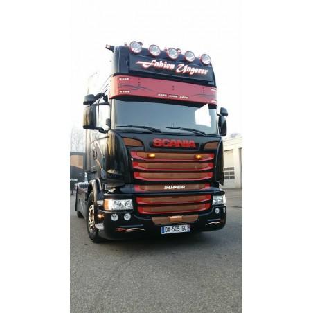 Visière Scania R - 350mm - 7 Emplacements de veilleuses
