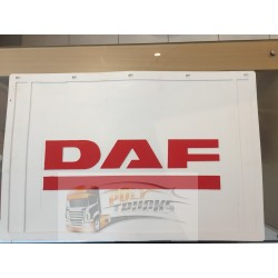 BAVETTE BLANCHE RETAILLABLE 600/500X400 MARQUAGE DAF ROUGE