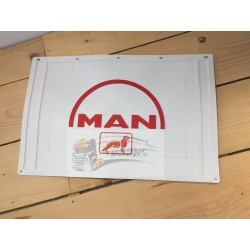 BAVETTE BLANCHE RETAILLABLE 600/500X400 MARQUAGE MAN ROUGE