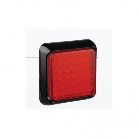 Feu arrière carré leds - Veilleuses/Stop - 147mm x 147mm x 31mm