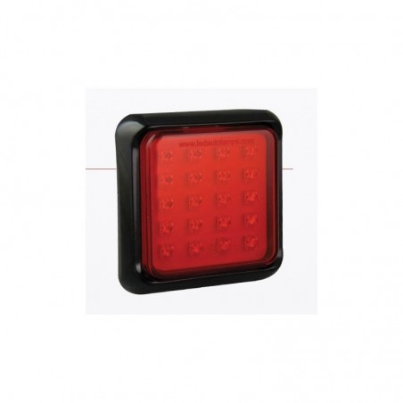 Feu arrière carré leds - Anti-Brouillard - 147mm x 147mm x 31mm